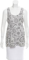 Jil Sander Sleeveless Paisley Printed Top