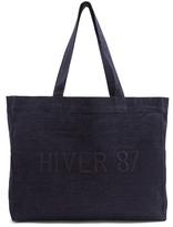 A.P.C. Hiver 87 cotton-denim tote