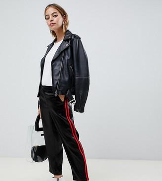Asos DESIGN Petite cigarette trousers in luxe satin