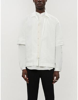 Ann Demeulemeester Joan cotton short-sleeved shirt
