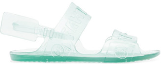 Off-White Off White Blue Jelly Zip-Tie Sandals