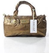 Marc by Marc Jacobs Gold Detail Leather Satchel Handbag