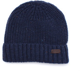 Barbour Langley Navy Fleck Beanie Hat