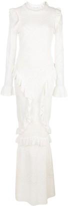 Alexis Ceecee crochet ruffle trim dress