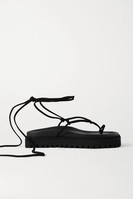 ATTICO Suede Platform Sandals - Black