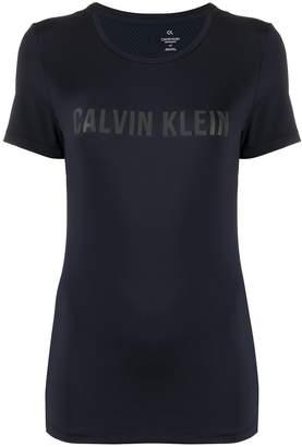 Calvin Klein mesh panel logo T-shirt