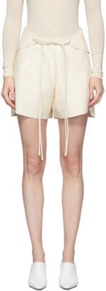 Sportmax White Nappa Urubu Shorts