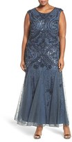 Pisarro Nights Plus Size Women's Embellished Mermaid Gown