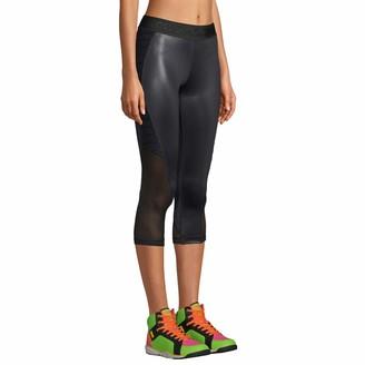 Zumba Print Capri Fitness Workout Gym Leggings Women with Breathable Mesh Panels