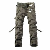 WINSON Men Cargo Army Military Long Casual Combat Pants Tactical Work Overall Trousers
