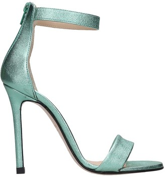 Marc Ellis Sandals In Green Leather