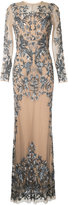 Zuhair Murad embellished nude effect gown