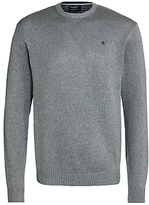 Hackett London Cotton Crew Neck Jumper, Grey