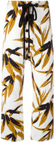 Marni Swash print trousers - women - Cotton/Linen/Flax - 38