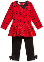 First Impressions Baby Girls' 2-Pc. Velour Dot-Print Tunic & Leggings Set, Only at Macy's