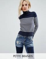 Noisy May Petite Roll Neck Stripe Sweater