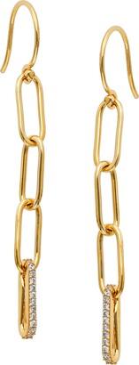 AJOA Lynx Pave Oval Link Linear Drop Earrings