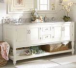 Pottery Barn Sink Console, with Chrome Hardware