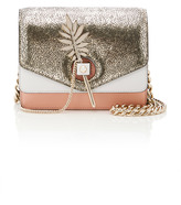 Alberta Ferretti Tricolor Leather Shoulder Bag