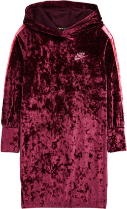 Nike Kids' Crushed Velour Hooded Dress