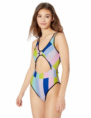 Bikini Lab Women's High Leg Cut Out One Piece Swimsuit