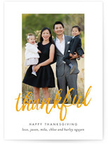 Minted Brushed Thanks Thanksgiving Cards