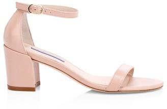 Stuart Weitzman Simple Patent Leather Sandals