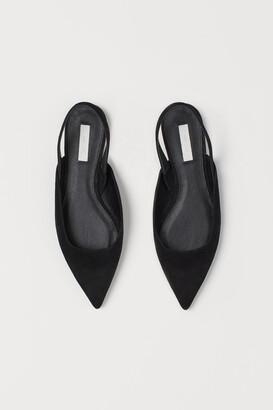 H&M Pointed Ballet Flats - Black