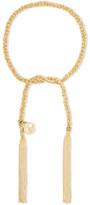 Carolina Bucci Peace Lucky 18-karat Gold And Silk Bracelet