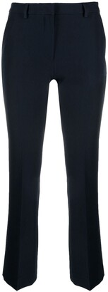 Pt01 High-Rise Cropped Kick-Flare Trousers
