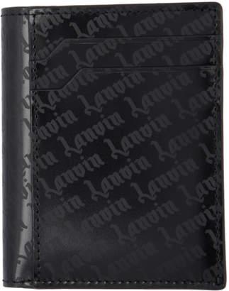 Lanvin Black Goth Logo Card Holder Wallet
