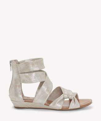 Vince Camuto Women's Seevina Strappy Low Wedges Sandals Sandy Silver Size 5 Leather From Sole Society