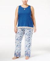 Lucky Brand Plus Size Tank Top and Printed Pants Pajama Set