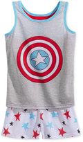 Marvel 2-Pc. Captain America Pajama Set, Little Girls (4-6X) and Big Girls (7-16)