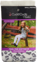 Cuddl Duds Girls 4-16 Sparkle Animal Print Sweater Tights