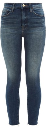 Frame Ali High Rise Skinny Jeans - Womens - Blue