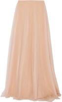 DELPOZO Tulle Maxi Skirt - Blush