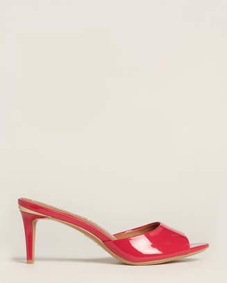 Calvin Klein Hibiscus Pink Luc Patent Sandals