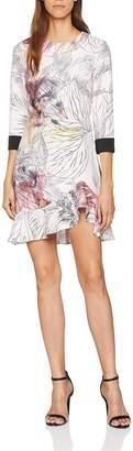 Little Mistress Women's Line Print Dress Party