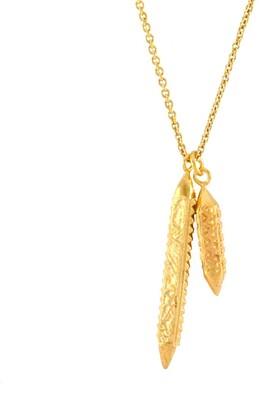Siva Annabelle Lucilla Jewellery Indra & Lotus Bud Colonette Pendant Gold