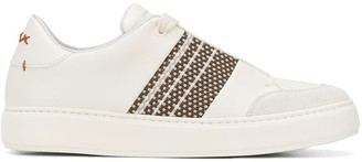 Ermenegildo Zegna Tiziano woven detail sneakers