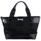 Christian Dior Leather-Trimmed Jacquard Tote