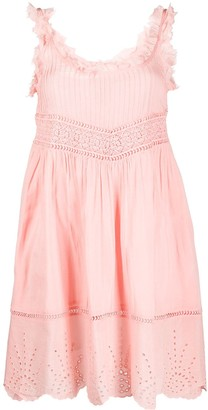 Semi-Couture Embroidered Frill-Trimmed Dress