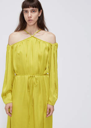Low Classic Long Sleeve Shirring Dress