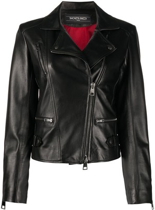 Simonetta Ravizza Slim-Fit Biker Jacket