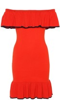 Rebecca Vallance Off-the-shoulder knitted dress