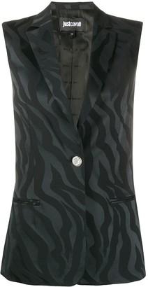 Just Cavalli Embroidered Sleeveless Waistcoat