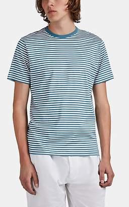 Sunspel Men's Striped Cotton T-Shirt - Blue Pat.