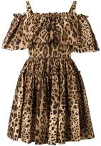 Dolce & Gabbana leopard print dress - women - Cotton - 38