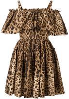 Dolce & Gabbana leopard print dress - women - Cotton - 40
